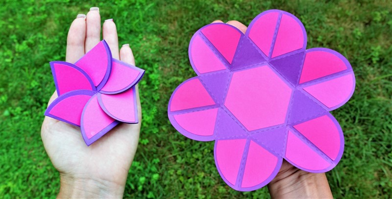 Origami flower photo mat free digital template for subscribers mightylinksfo