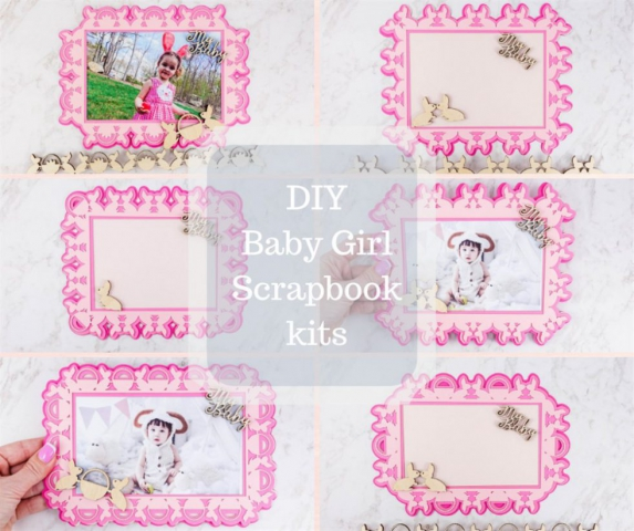 Personalized Diy Baby Girl Themed Scrapbook Kits
